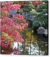 Sparkling Autumn Reflection Acrylic Print