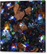Sparkling Leaves Acrylic Print