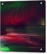 Sparkling Night Of The Aurora Borealis Acrylic Print