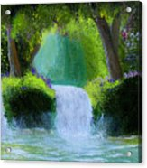 Sparkling Waterfall Acrylic Print