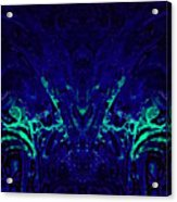 Sparkly Blues In. A Acrylic Print