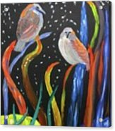 Sparrows Inspired By Chihuly Acrylic Print