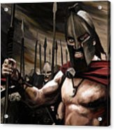 Spartans 300 Acrylic Print by James Shepherd