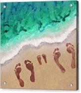 Speck Family Beach Feet Acrylic Print