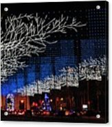 Spectacular Christmas Lighting In Madrid, Spain Acrylic Print