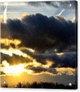 Spectacular Sunrise In Clouds Acrylic Print