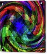 Spectrum Swirls Acrylic Print