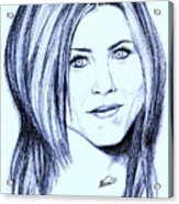 Speed Drawing Of Jennifer Aniston  Acrylic Print