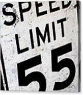 Speed Limit Acrylic Print