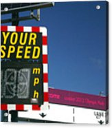 Speed Up Acrylic Print