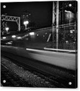 Speedy Train At Kings Cross Acrylic Print