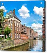 Speicherstadt Warehouse District In Hamburg Acrylic Print