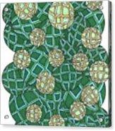 Spheres Cluster Green Acrylic Print