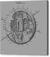 Spherical Satellite Structure Patent 1957 Acrylic Print