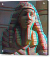 Sphinx - Use Red-cyan 3d Glasses Acrylic Print