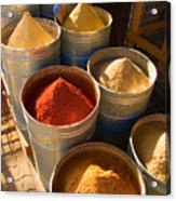 Spices In Marrakesh Morroco Acrylic Print