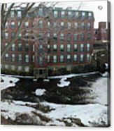 Spicket River Mill Condo Acrylic Print