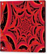 Spider Web Flame Fractal Abstract 793 Acrylic Print