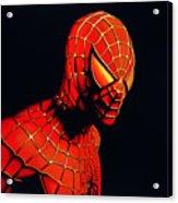 Spiderman Acrylic Print by Paul Meijering