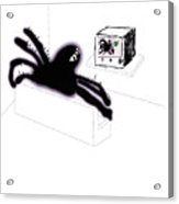 Spiders Don't Watch Tv Acrylic Print