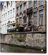 Spieglerei Canal In Bruges Belgium Acrylic Print