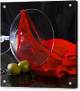 Spilled Martini With Red Panties Acrylic Print