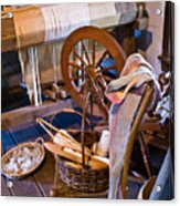 Spinning and Weaving Acrylic Print