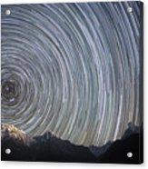 Spinning Stars Above Himalayas Acrylic Print by Anton Jankovoy