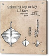 Spinning Top Or Toy Patent Art Acrylic Print