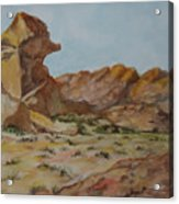 Spinx In The Valley Of Fire Acrylic Print