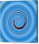 Have A Closer Look. Spiral Art With Light And Dark Blue Embossing Effect.  Acrylic Print