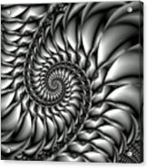 Spiral Down Fractal Poster Acrylic Print