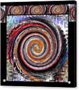 Spiral Frenzy Poster Acrylic Print
