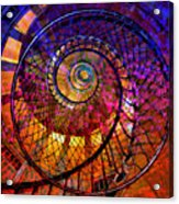 Spiral Spacial Abstract Square Acrylic Print