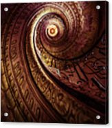 Spiral Staircase In An Old Abby Acrylic Print