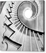 Spiral Staircase Lowndes Grove  Acrylic Print by Dustin K Ryan