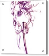 Ghostly Smoke - Magenta Acrylic Print