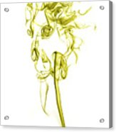 Ghostly Smoke - Yellow Acrylic Print