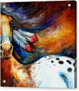 Spirit Indian Warrior Pony Acrylic Print