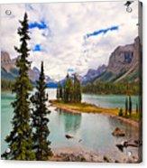 Spirit Island View Alberta Canada Acrylic Print