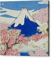 Spirit Of Ukiyo-e Illuminated By Stunning Nature Acrylic Print
