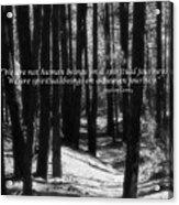 Spiritual Journey Acrylic Print
