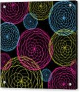 Spiro Blooms In Noir Acrylic Print