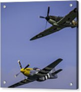 Spitfire And Mustang Acrylic Print