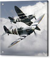Spitfire Flying Legends Acrylic Print
