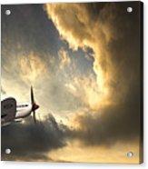 Spitfire Acrylic Print by Meirion Matthias