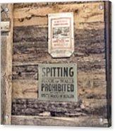 Spitting Prohibited Acrylic Print