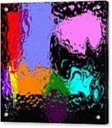 Splash Of Colors Acrylic Print
