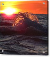 Splash - Sunset On Lake Huron Acrylic Print