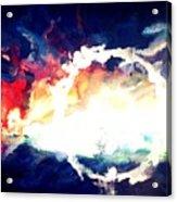 Splashed Sunset Acrylic Print